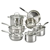 Deals on Lagostina Q939SC64 Tri-Ply Stainless Steel Cookware Set 12pc