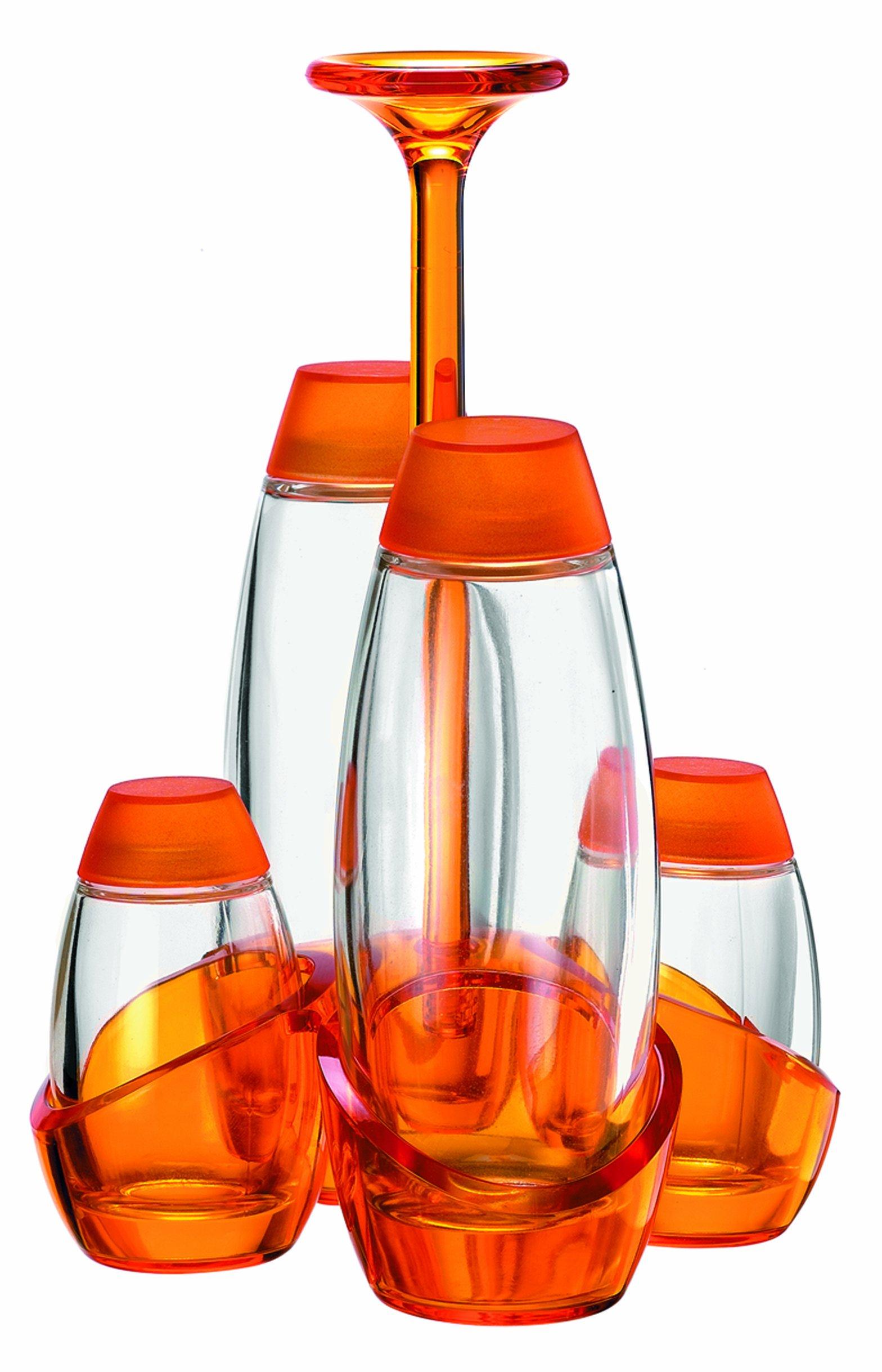 Guzzini GU-2348.00-45 Gemme Cruet Set, 6-Ounce/2-Ounce, Orange