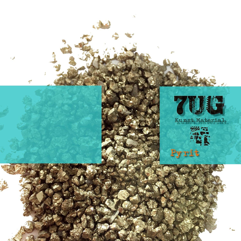 7UG-Pyrit/Metallisch glä nzendes Strukturmaterial zur Verwendung in der experimentellen Kunst