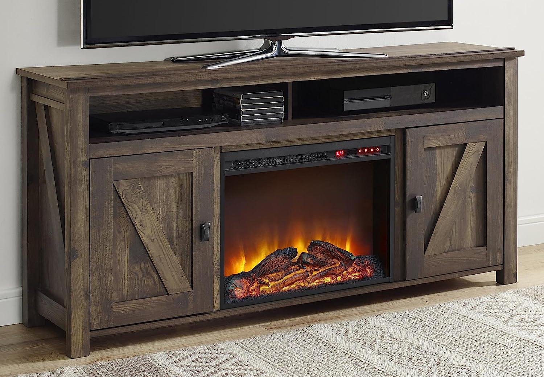 Amazon Com Ameriwood Home Farmington Electric Fireplace Tv