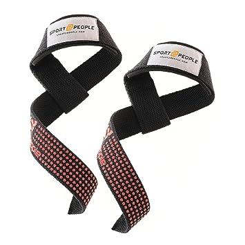 Correas de Levantamiento de pesas con agarre de silicona – Muñeca envuelve apoyo – Equipo para