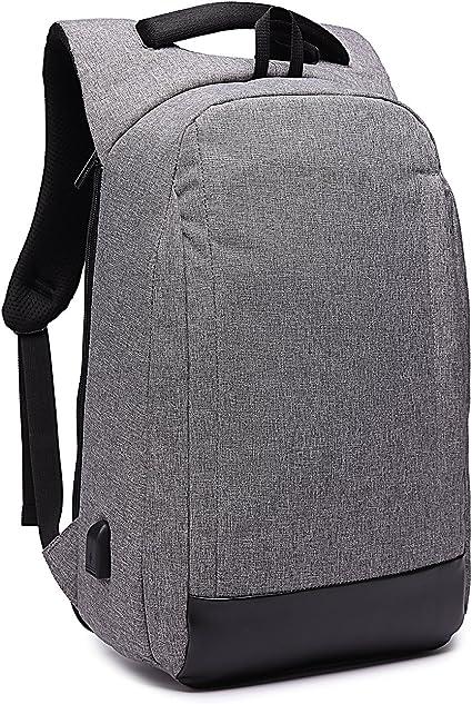 Sac /à Dos pour Ordinateur Portable avec Port USB 15.6 Pouce Business Imperm/éable Sac a Dos Homme Femme Antivol Backpack Noir
