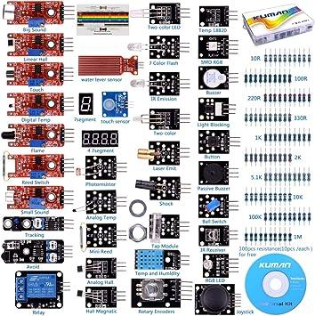 kuman para Arduino Kit, para Arduino-R3 Raspberry Pi 3 Mega 2560 ...