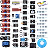 kuman For Arduino Raspberry pi Sensor kit, 37 in 1 Robot Projects Starter Kits with Tutorials for Arduino Uno RPi 3 2 Model B B+ K5