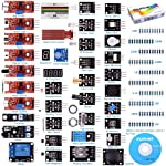 Kuman K5-USFor Arduino Raspberry pi Sensor kit, 37 in 1 Robot Projects Starter Kits with Tutorials for Arduino Uno RPi 3...