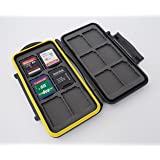 Ares Foto® MC-SD12 Speicherkarten Schutzbox / Memory Card Case / Card Safe / Tasche / Etui für 12 Stück SD Karten - New Edition 2017 for 12 SDHC Cards