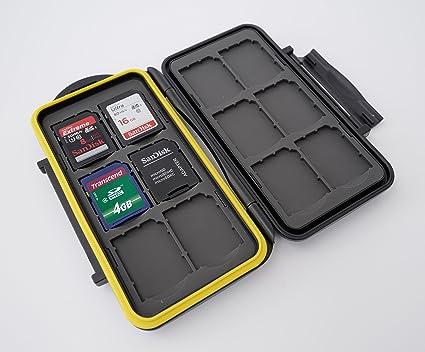 Estuche impermeable Anti-choque para tarjetas de memorias para combinaciones: 12 x tarjetas SD