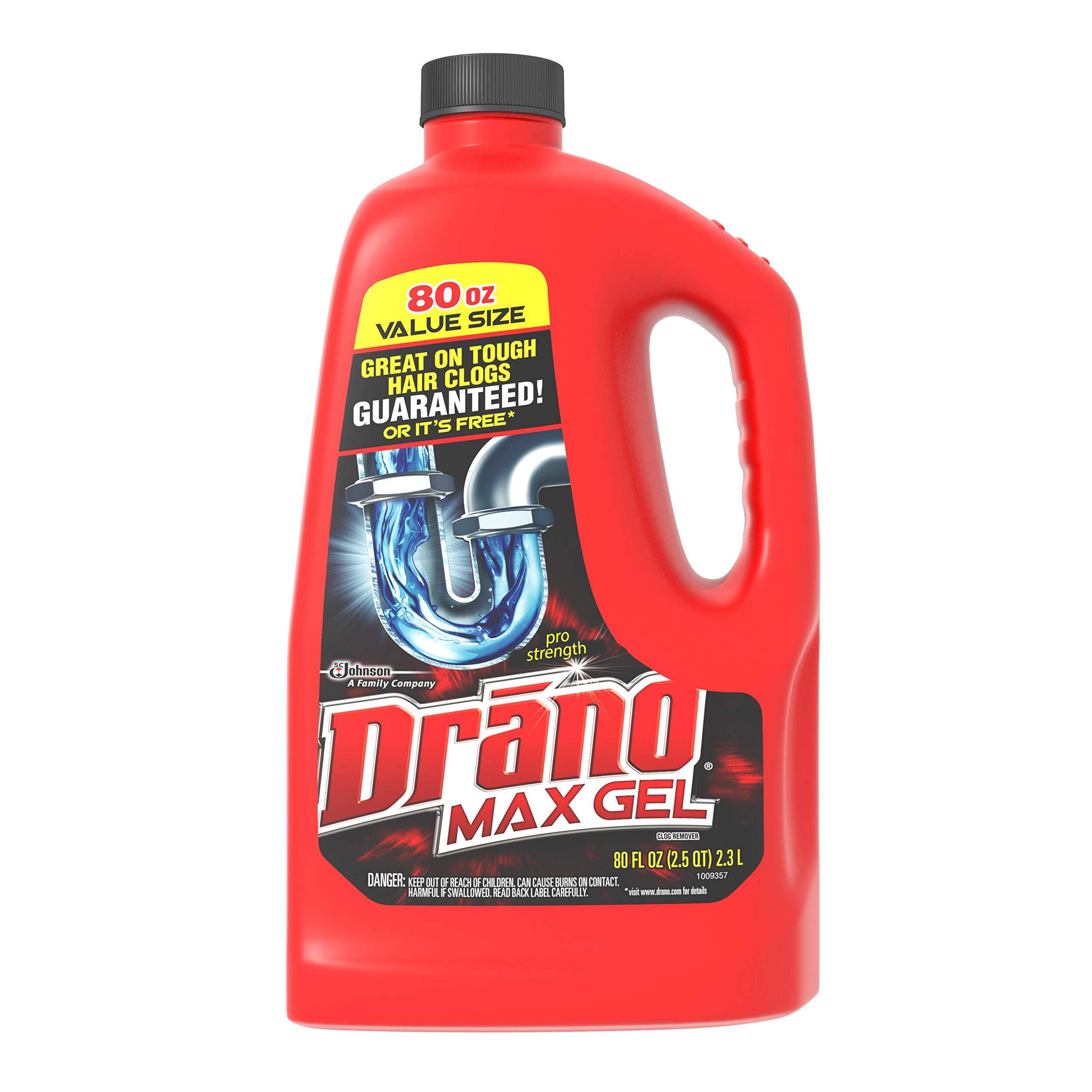 Drano Max Gel Clog Remover, 80 OZ by Drano (Image #1)