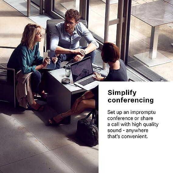 Sennheiser SP 20 ML (506049) - Sound-Enhanced, User-Friendly Mobile Speaker  Phone | For Desk/Mobile Phone & Softphone/PC Connection | Skype for