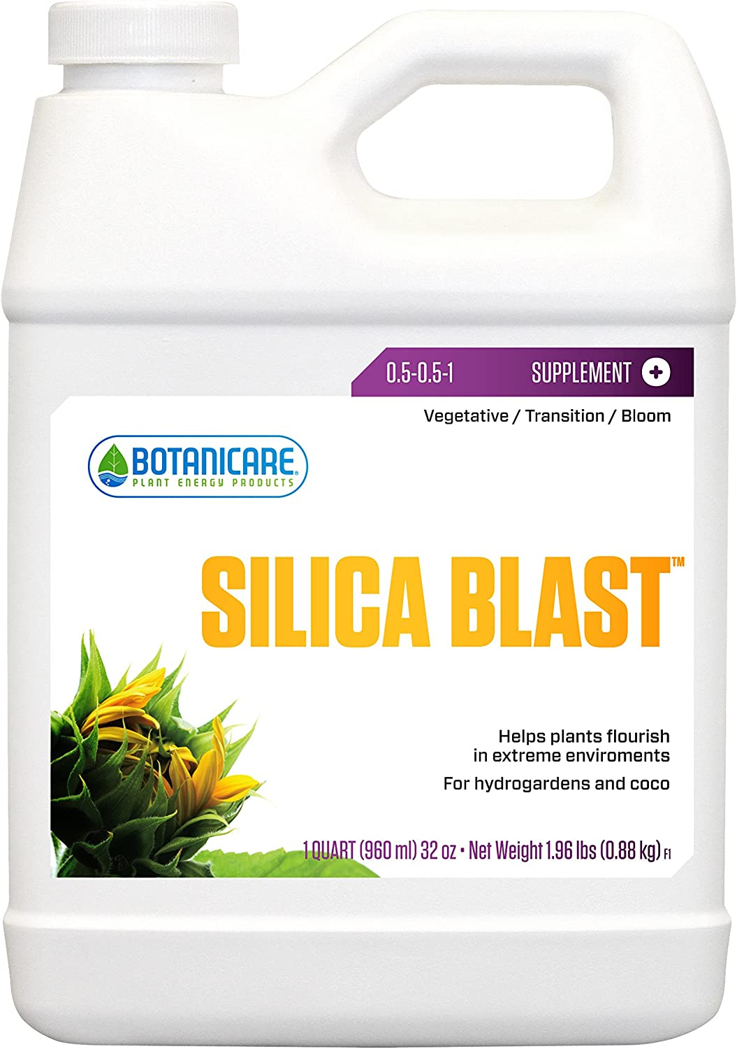 Botanicare HGC732485 Silica Blast Helps Plants Flourish In Extreme Environments, For Hydrogardens & Coco, Quart