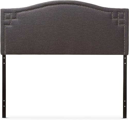 Baxton Studio Gallia Modern Contemporary Fabric Upholstered Headboard