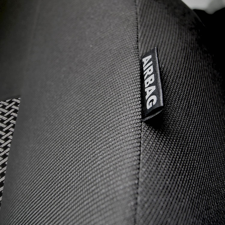 Sitzbez/üge Komplettset Sitzbezug f/ür Auto Sitzschoner Set Schonbez/üge Autositz Autositzbez/üge Sitzauflagen Sitzschutz Elegance gsmarkt Universal 5-Sitze Grau