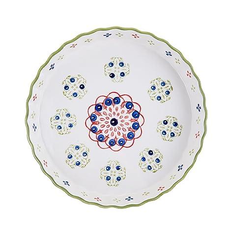 Pfaltzgraff Pink/Green Ceramic Round Pie Plate 11-Inch  sc 1 st  Amazon.com & Amazon.com: Pfaltzgraff Pink/Green Ceramic Round Pie Plate 11-Inch ...