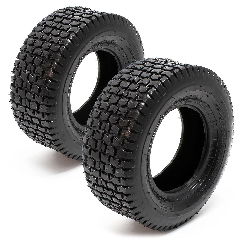 WilTec Set 2X Cubiertas Ruedas Tractor cortacésped 13x5.00-6 ...