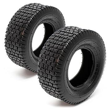 Set 2x cubiertas ruedas tractor cortacésped 13x5.00-6 Ruedas segadora jardín Accesorios jardinería: Amazon.es: Jardín