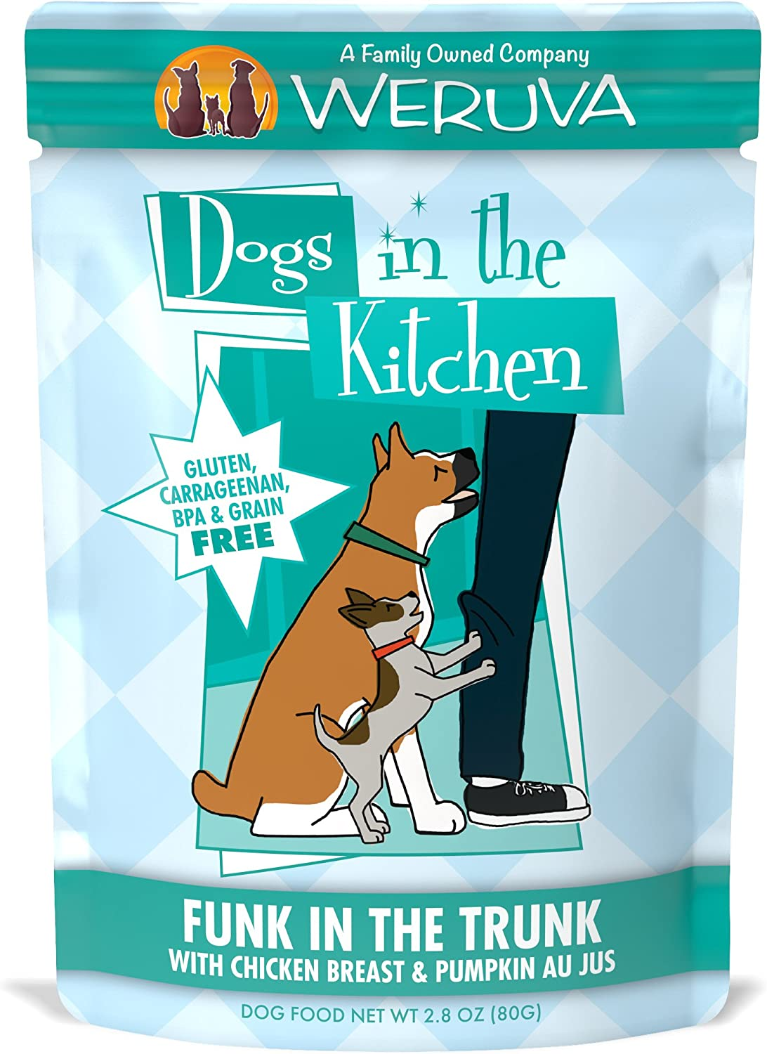Weruva Dogs in the Kitchen Grain-Free Natural Wet Dog Food Pouches