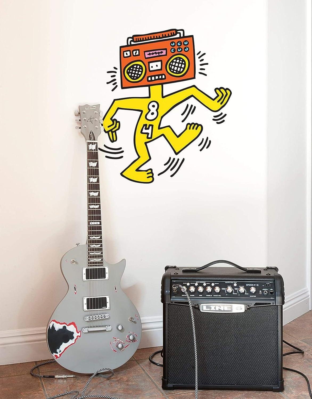 BLIK Keith Haring Wall Sticker Mr Boombox キースヘリング ウォールステッカー ミスターブームボックス B07CYGP67P