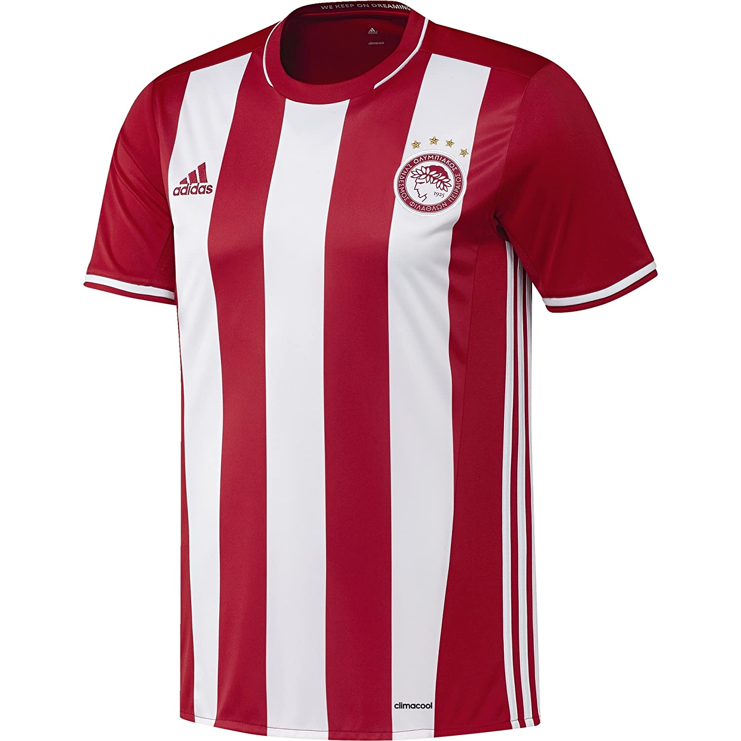c7f78ee66f88 adidas OFC H JSY - 1st Football kit T-Shirt for of Olympiacos FC 2015 2016  for Men  Amazon.co.uk  Sports   Outdoors