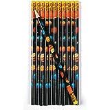 Weltraum Space Bleistifte mit Radiergummi als Mitgebsel 12 Stück Palandi®