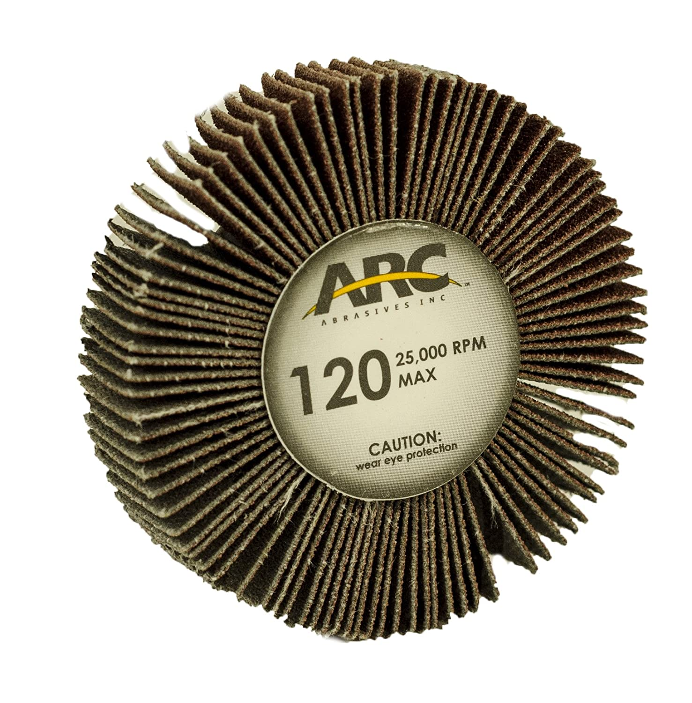 Arc Abrasives 12222 Threaded Shank Flap Wheels 10-Pack 2-Inch x 1//2-Inch x 1//4-20 Shank 240 Grit