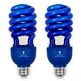 2 Pack BlueX CFL Blue Light Bulb 24W - 100-Watt