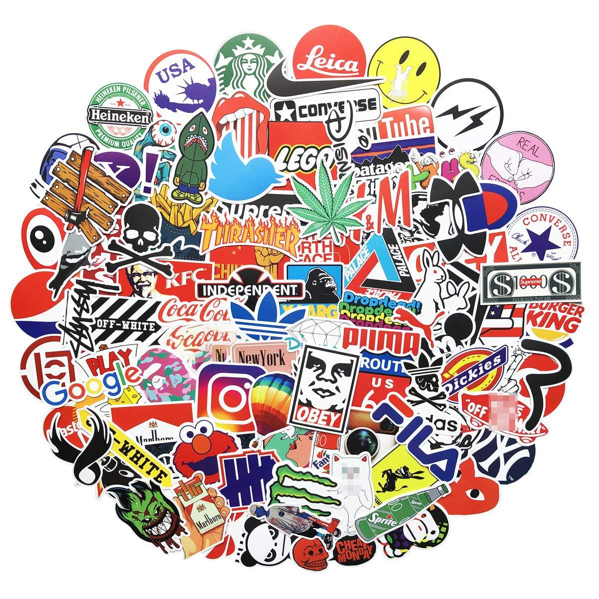 Stickers Calcos 100 Un. De Logos/marcas