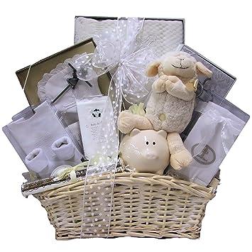 Amazon.com : Great Arrivals Baby Christening Baptism Gift Basket ...