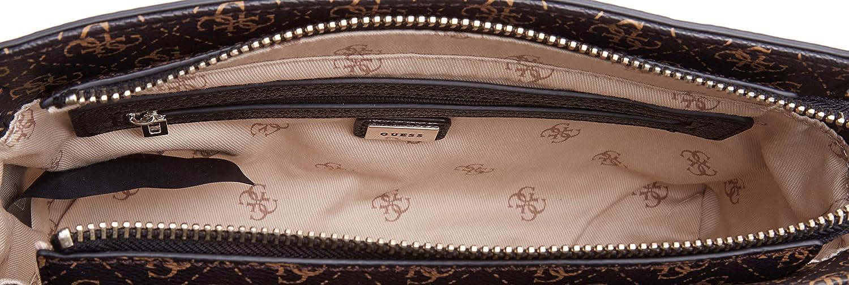 W x H x L bolso bandolera para Mujer Guess Esme Crossbody Top Zip 7x17x29 Centimeters
