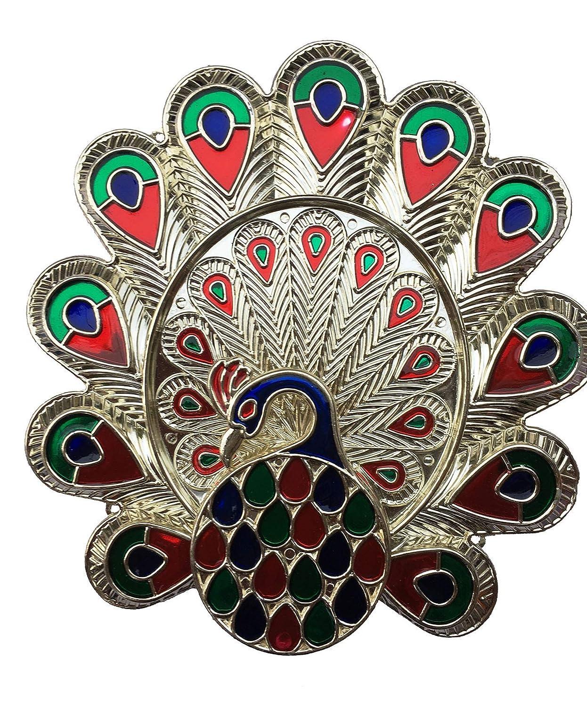 Decoration Craft New Peacock Design Puja Thali