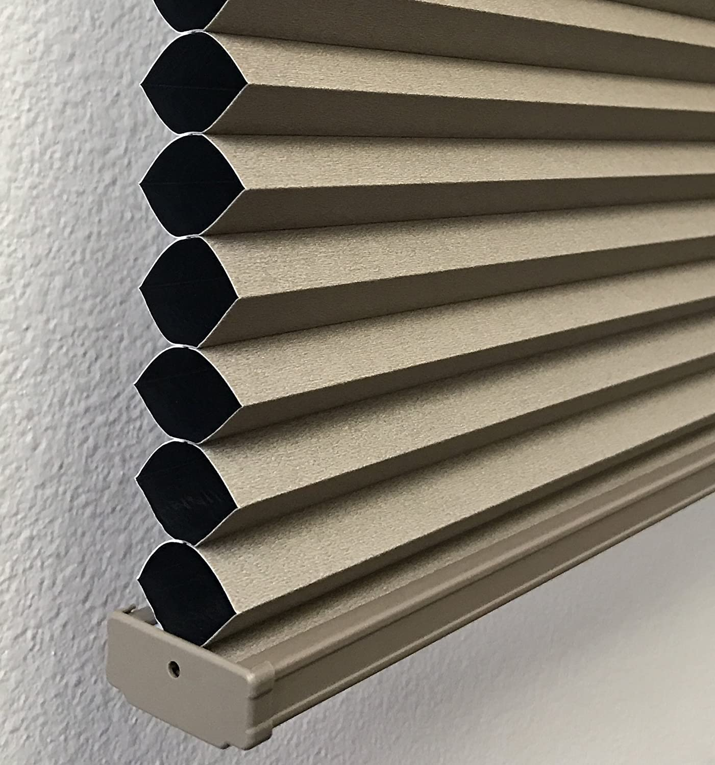 BlindDen Cocoa, TOP DOWN/BOTTOM UP, CORDLESS, Room Darkening Cellular Shades, 24