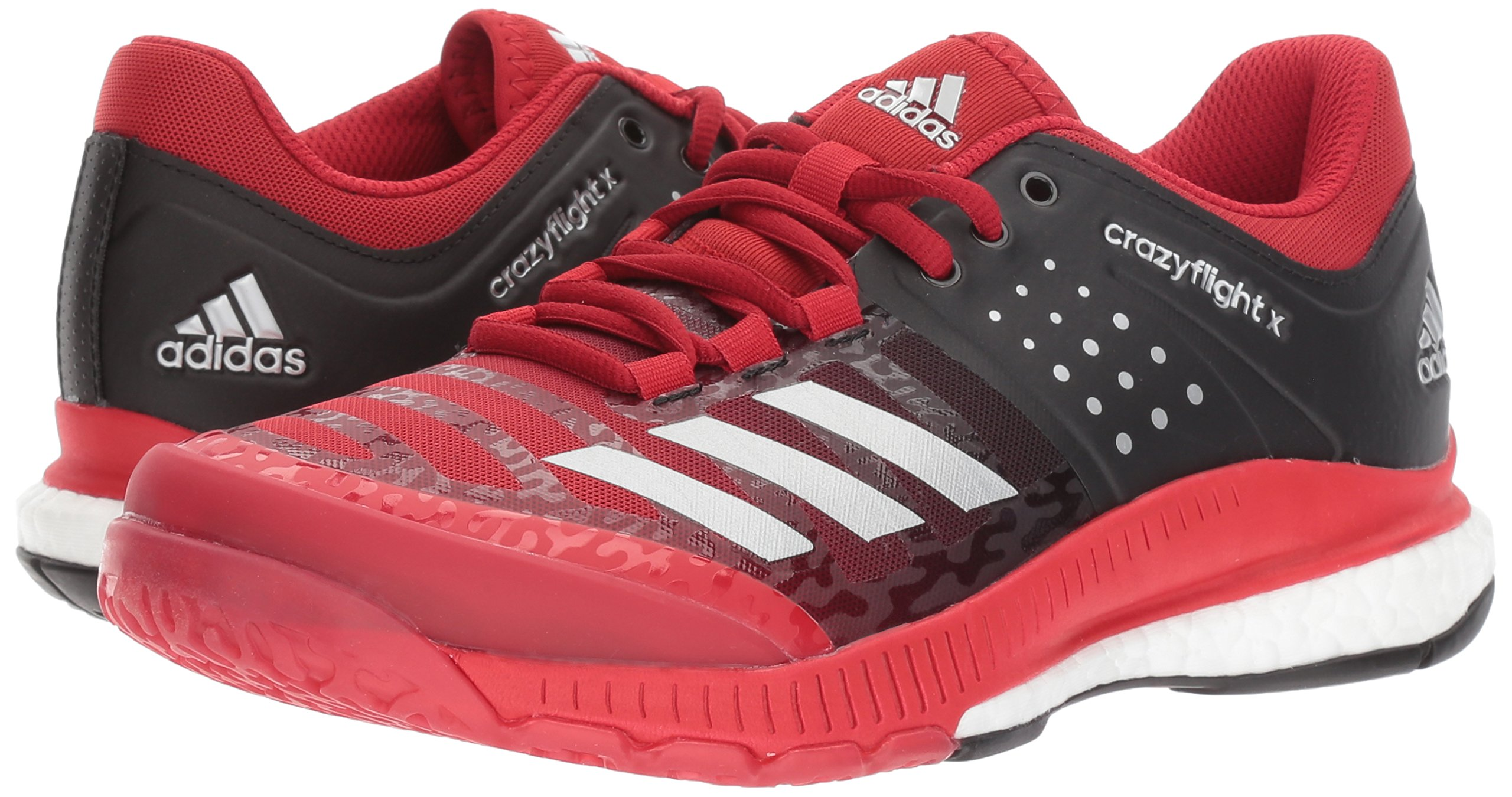 Adidas Women's Shoes Crazyflight X Volleyball Shoe Black/Metallic Silver/Power Red,7.5 by adidas Originals (Image #6)