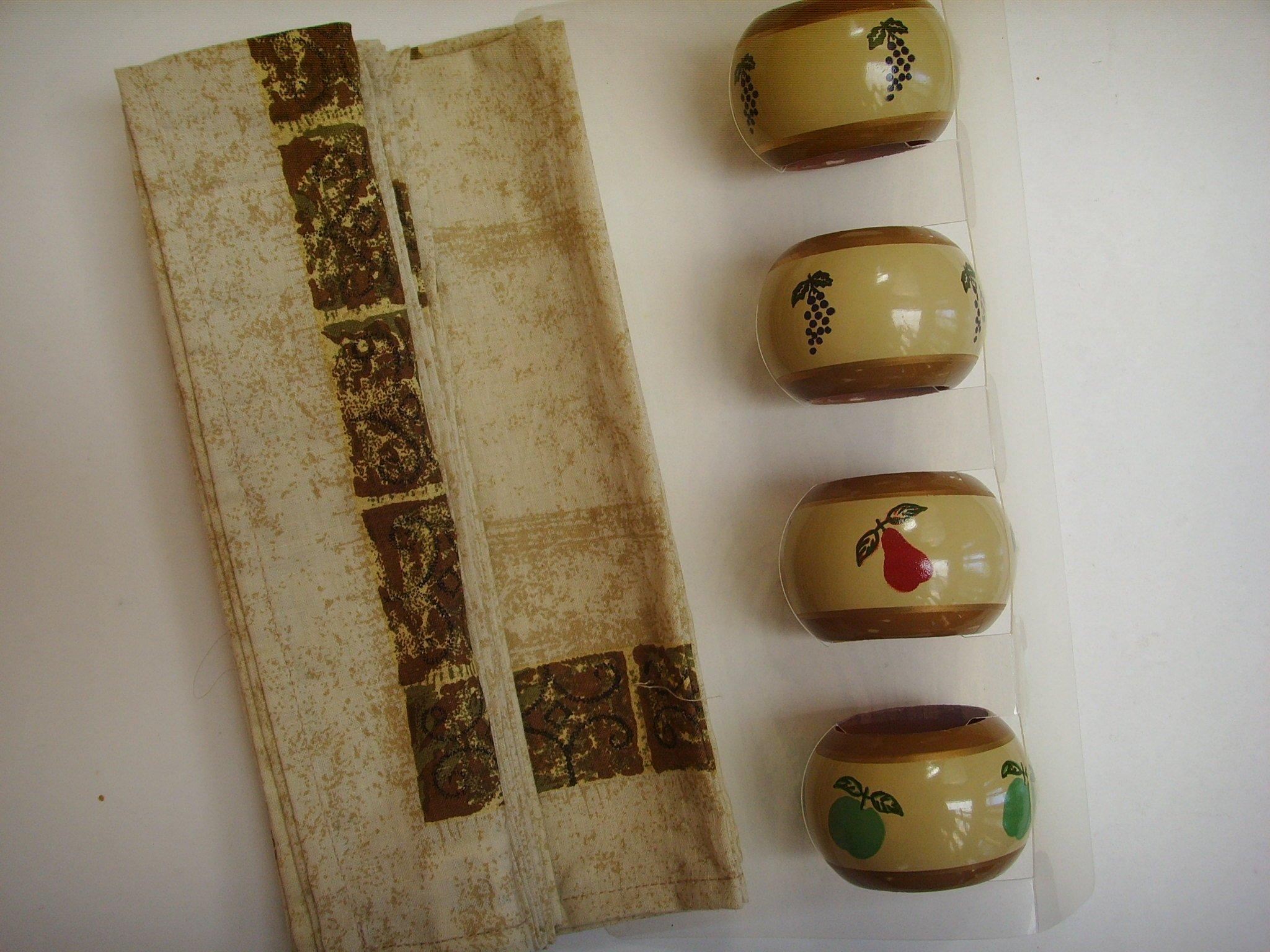Pimpernel Tuscan Pallette Napkins & Napkin Holders - Set of 4 Each