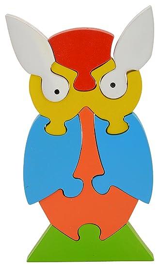 Skillofun Wooden Take Apart Puzzle Owl, Multi Color