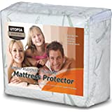 Amazon Price History for:Waterproof Bamboo Mattress Protector - Hypoallergenic fitted Mattress Cover - Breathable Cool Flow Technology - Vinyl Free (Queen) - by Utopia Bedding