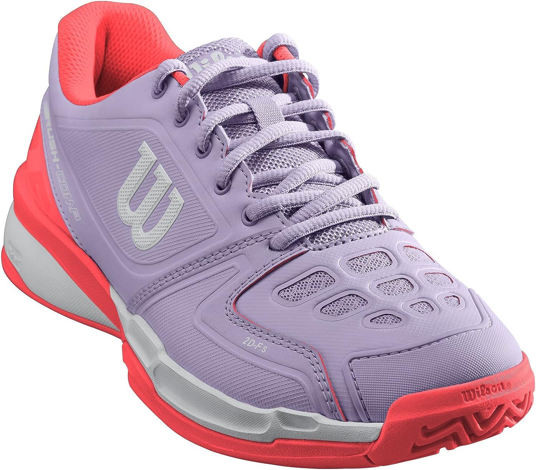 Tissu Synth/étique Convient aux joueurs de tout niveau RUSH COMP W Wilson Femme Chaussures de Tennis Pour tout type de terrain