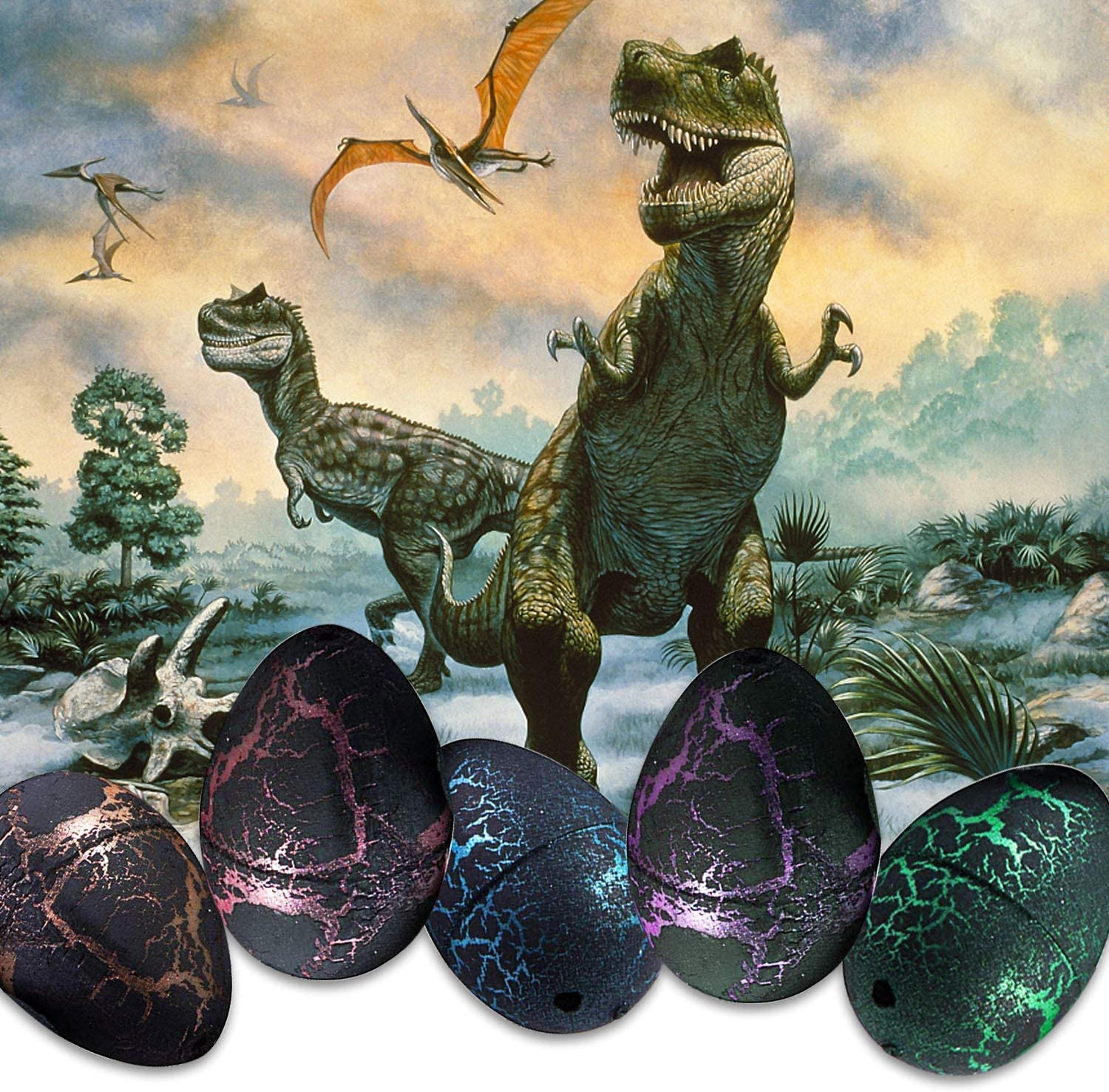 Kids Magic Water Hatching Dinosaur Egg Toy Inflatable Growing Eggs #1 Biunixin Educational Novelty Toys
