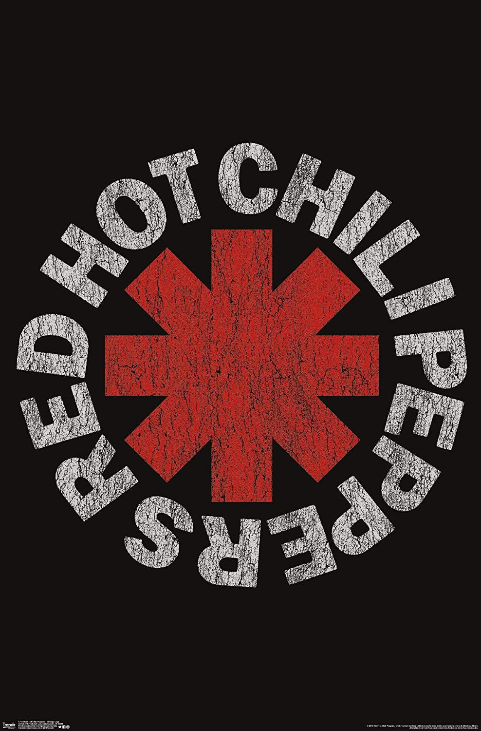 """Trends International Red Hot Chili Peppers - Vintage Logo Wall Poster, 22.375"""" x 34"""", Unframed Version"""
