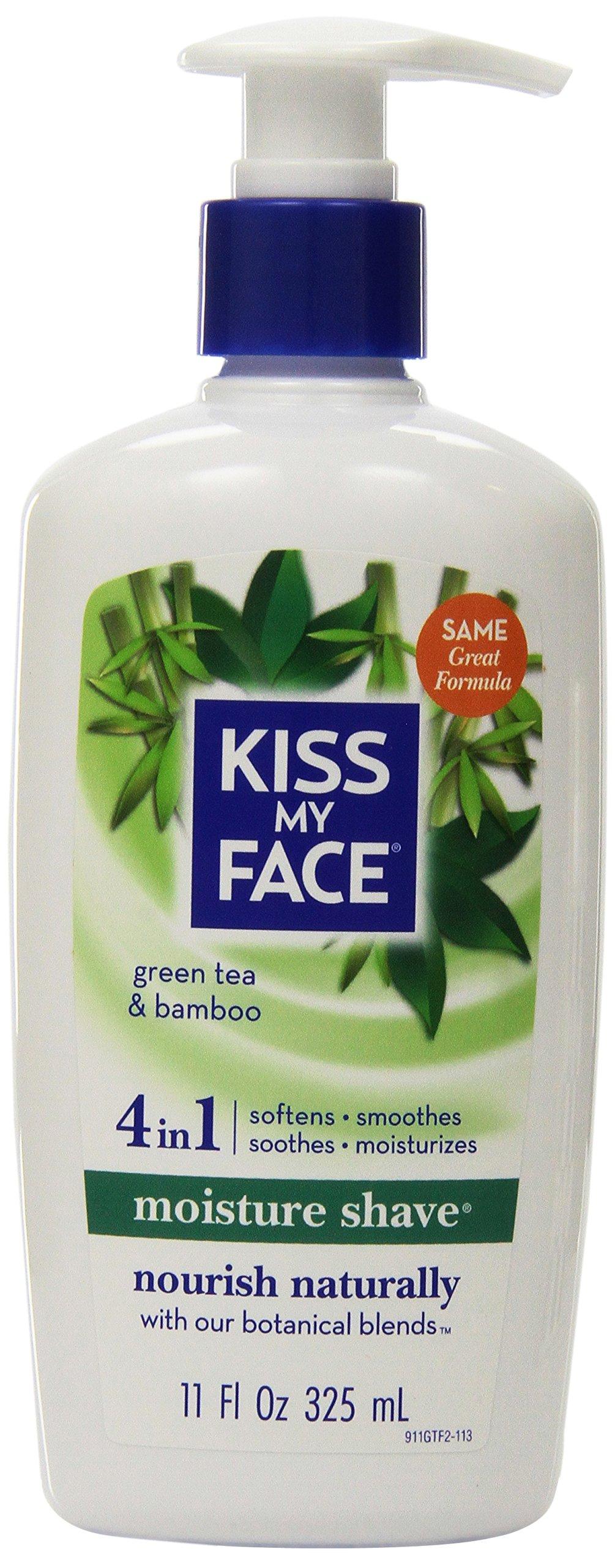 Kiss My Face Moisture Shave Shaving Cream, Green Tea & Bamboo Shaving Soap, 11 oz (Pack of 12)
