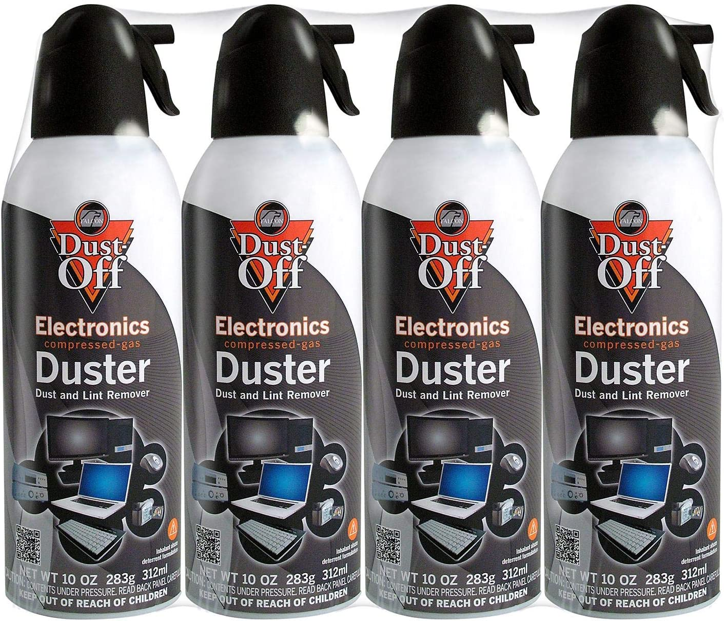 12 pk Compressed Air Computer TV Gas Cans Duster 10 oz Dust Off Keyboard Laptop