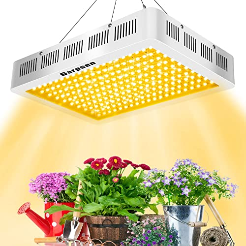 Garpsen 2000W LED Grow Light Daisy Chain Full Spectrum Light Fixtures with Rope Hanger for Indoor Plants Veg and Flower