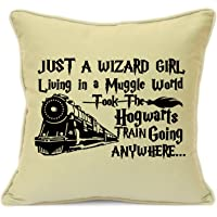 Harry Potter Presents Gifts For Him Her Girls Boys Teens Birthday, Christmas, Xmas Wizard Girl Living In A Muggle World Cushion Cover 18 Inch 45 Cm Elf Dobby Hogwarts Dumbledore Home Decor