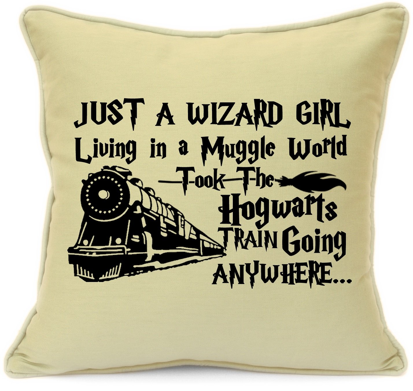 Harry Potter Presents Gifts For Him Her Girls Boys Teens Birthday, Christmas, Xmas Wizard Girl Living In A Muggle World Cushion Cover 18 Inch 45 Cm Elf Dobby Hogwarts Dumbledore Home Decor Imran's Gift Shop