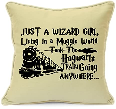 Harry Potter Presents Gifts For Him Her Girls Boys Teens Birthday Christmas Xmas Wizard Girl Living In A Muggle World Cushion Cover 18 Inch 45 Cm