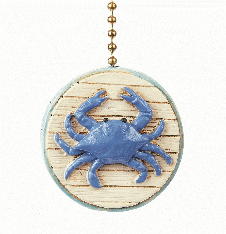 Blue Crab 2D Beach Ceiling Fan Pull - Beach Decor