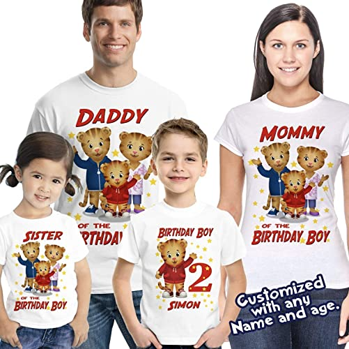 Amazon Daniel Tiger Birthday Shirt Family Tshirt Matching Shirts Mommy Party Daddy