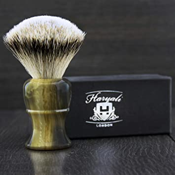 18a99173 Haryali London Hand Assembled Imitation Horn Handle (Silver Tip Badger Hair  Shaving Brush) Sophist Collection & Design By Haryali London.