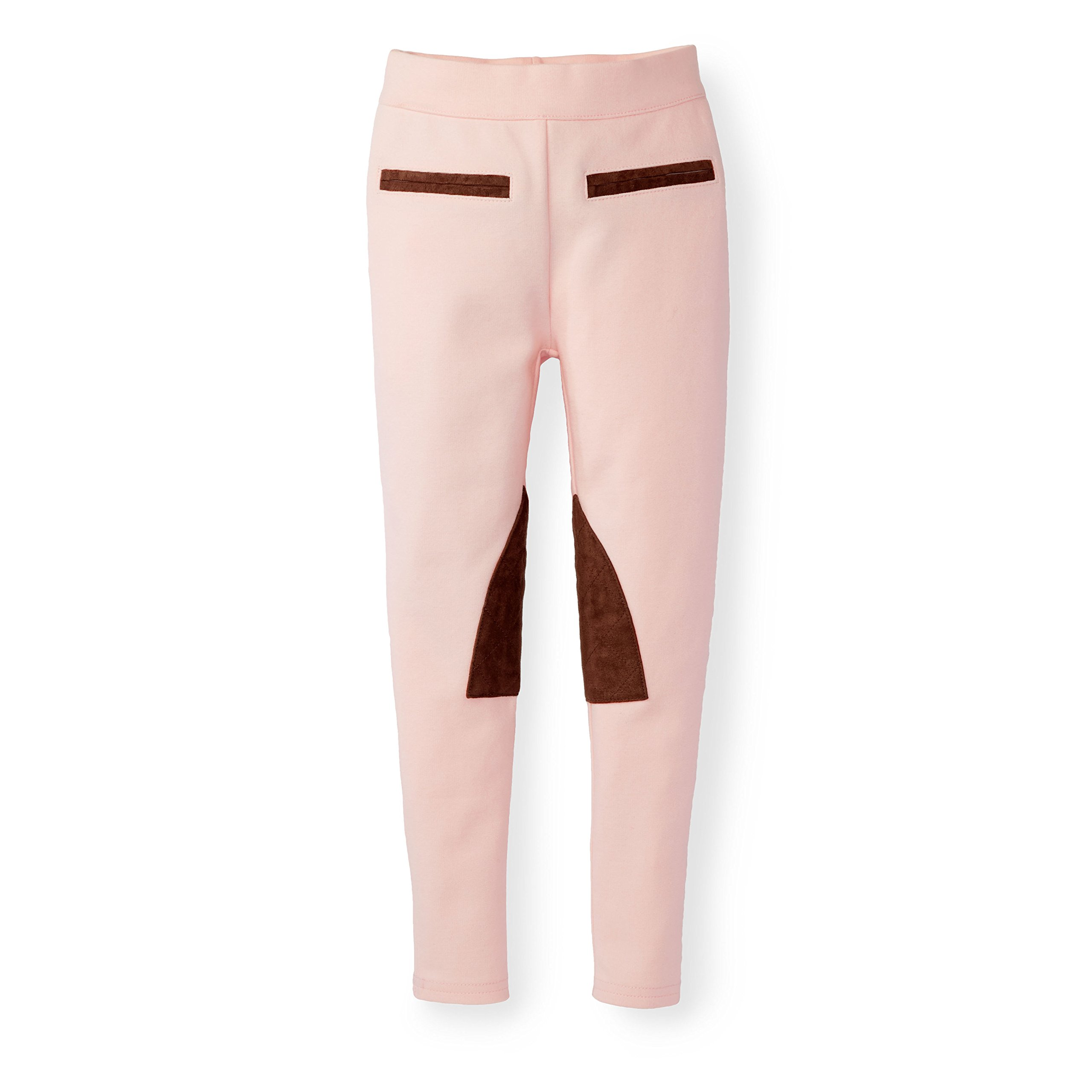 Hope & Henry Girls' Pink Ponte Riding Pants Made with Organic Cotton