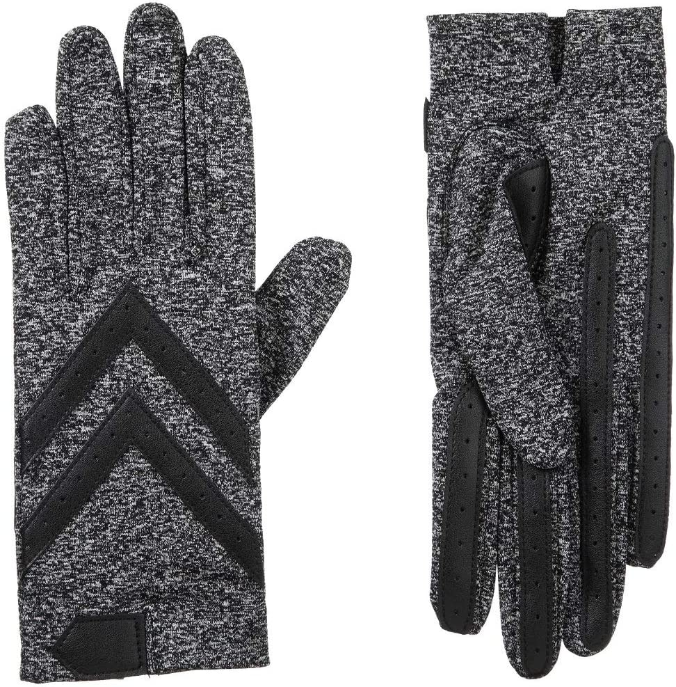 Large//Xlarge Midnight Isotoner Womens Unlined Touchscreen Driving Gloves