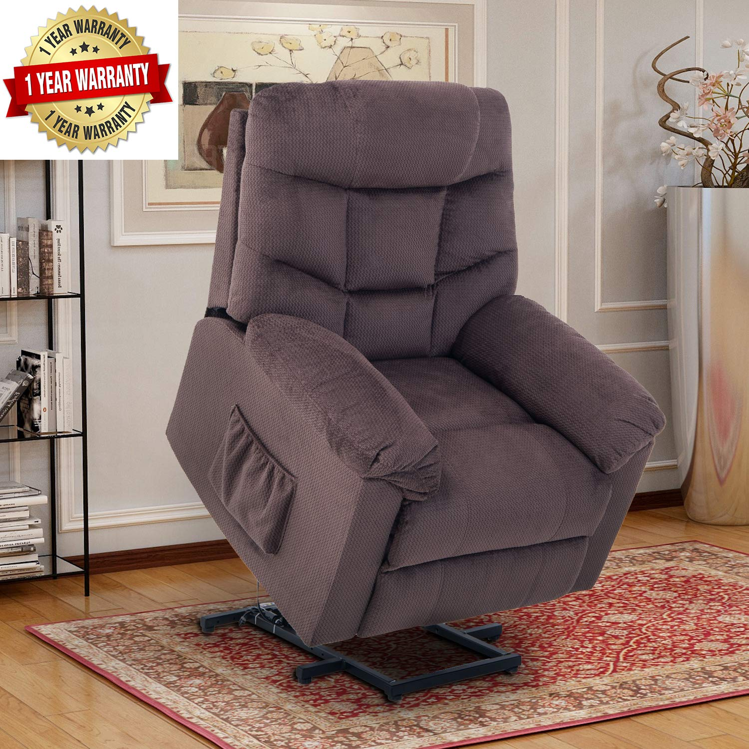 Lift Chairs for Elderly - Lift Chairs Recliners Lift Chairs Electric Recliner Chairs with Remote Control Soft Fabric Lounge by Harper & Bright Designs