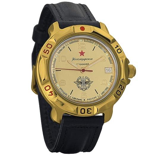 Vostok KOMANDIRSKIE 2414 819451 Militar ruso reloj mecánico: Amazon.es: Relojes